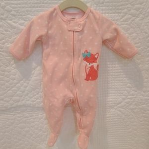 Carter's Size 3 month fleece footed pajamas